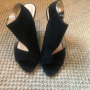 Nine West Black Cut out Heels